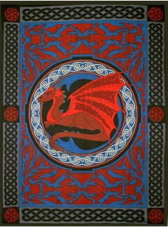 Red Celtic Dragon Tapestry Gothic Plus Gothic Clothing, Jewelry, Goth Shoes & Boots & Home Decor