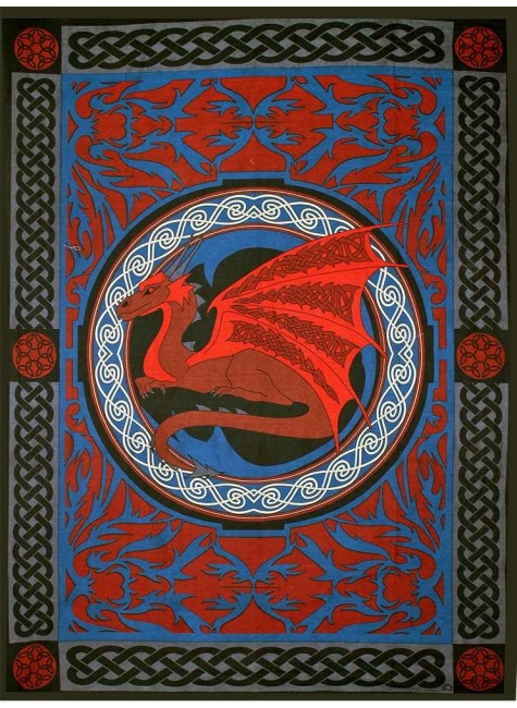 Red Celtic Dragon Tapestry at Gothic Plus, Gothic Clothing, Jewelry, Goth Shoes & Boots & Home Decor