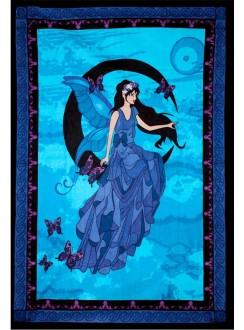 Moon Fairy Tapestry Gothic Plus Gothic Clothing, Jewelry, Goth Shoes & Boots & Home Decor