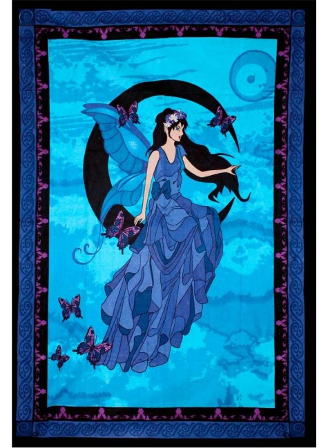 Moon Fairy Tapestry at Gothic Plus, Gothic Clothing, Jewelry, Goth Shoes & Boots & Home Decor