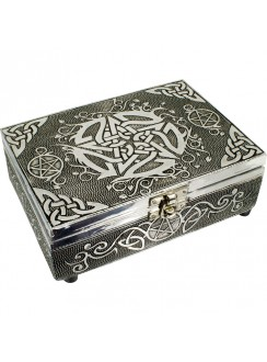 Pentacle Embossed Metal Box Gothic Plus Gothic Clothing, Jewelry, Goth Shoes & Boots & Home Decor