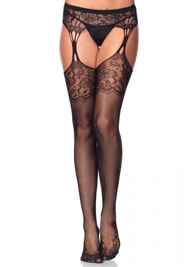 c1fc3e20830ff Floral Lace Net Suspender Stockings - Pack of 3 at Gothic Plus, Gothic  Clothing,