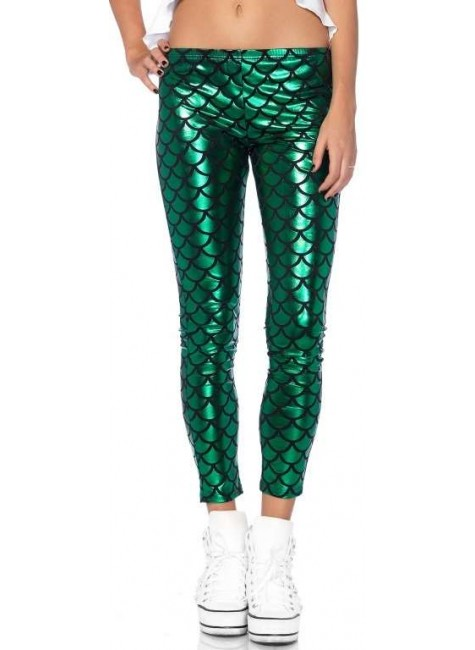 Mermaid Green Scale Leggings at Gothic Plus, Gothic Clothing, Jewelry, Goth Shoes & Boots & Home Decor
