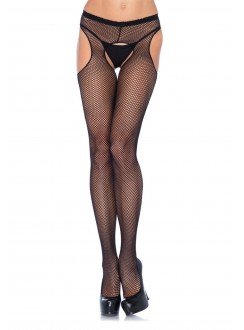 Fishnet Suspender Crotchless Pantyhose  - Pack of 3 Gothic Plus Gothic Clothing, Jewelry, Goth Shoes & Boots & Home Decor