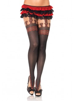 Marquee Printed Faux Garterbelt Pantyhose 3 Pack Gothic Plus Gothic Clothing, Jewelry, Goth Shoes & Boots & Home Decor