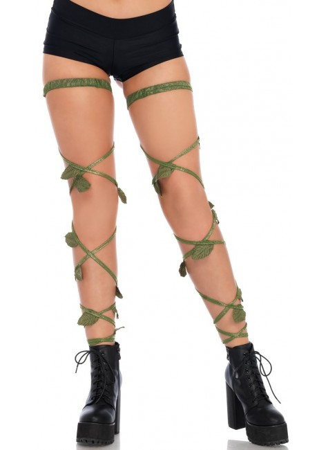 Poison Ivy Leg Wraps at Gothic Plus, Gothic Clothing, Jewelry, Goth Shoes & Boots & Home Decor