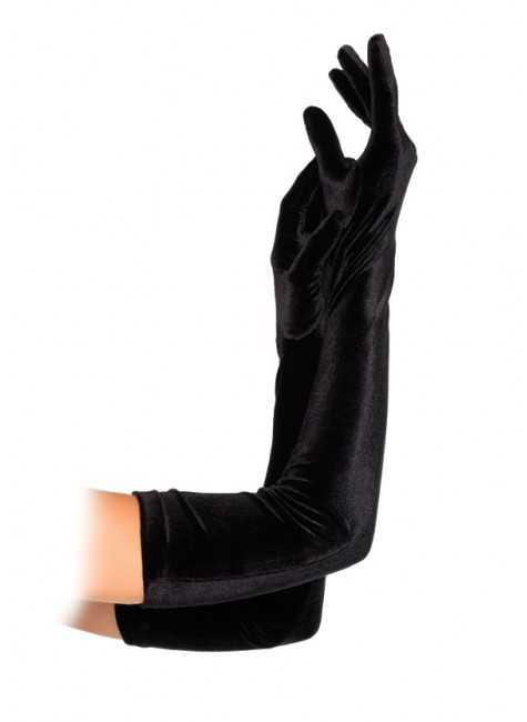 Black Velvet Opera Gloves at Gothic Plus, Gothic Clothing, Jewelry, Goth Shoes & Boots & Home Decor
