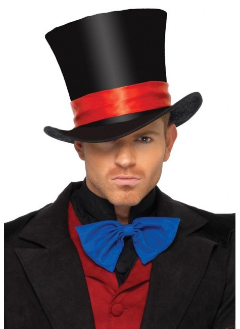 Mens Oversized Velvet Top Hat at Gothic Plus, Gothic Clothing, Jewelry, Goth Shoes & Boots & Home Decor