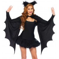 Bat Wing Cozy Shrug and Ears