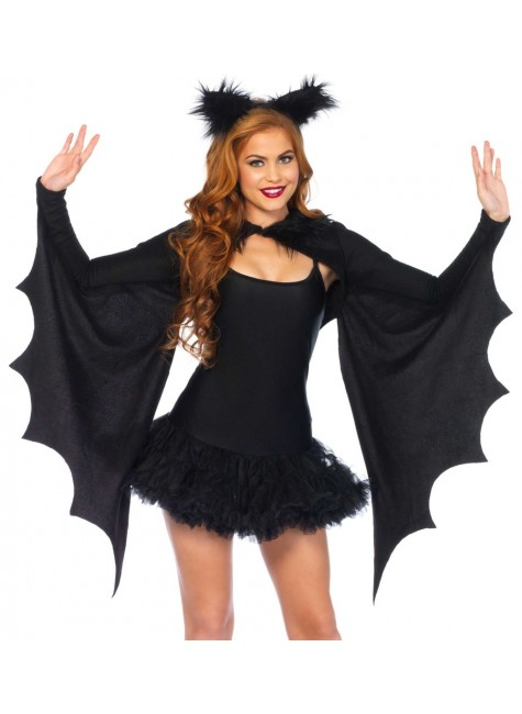 Bat Wing Cozy Shrug and Ears at Gothic Plus, Gothic Clothing, Jewelry, Goth Shoes & Boots & Home Decor