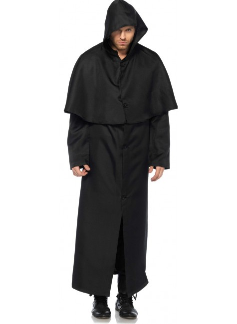 Hooded Button Front Coat at Gothic Plus, Gothic Clothing, Jewelry, Goth Shoes & Boots & Home Decor