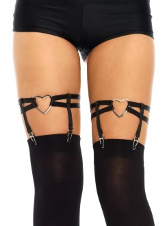 Black Heart Leg Garters Gothic Plus Gothic Clothing, Jewelry, Goth Shoes & Boots & Home Decor