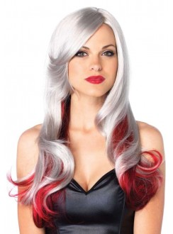 Allure Multi Color Wig with Color Tips Gothic Plus Gothic Clothing, Jewelry, Goth Shoes & Boots & Home Decor