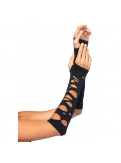 Black Shredded Arm Warmers