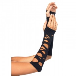 Black Shredded Arm Warmers Gothic Plus Gothic Clothing, Jewelry, Goth Shoes & Boots & Home Decor
