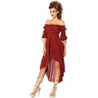 Gauze High Low Peasant Dress