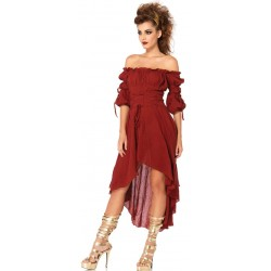 Gauze High Low Peasant Dress Gothic Plus  Gothic Clothing, Jewelry, Goth Shoes, Boots & Home Decor