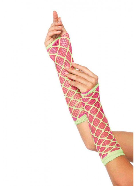 Duel Net Neon Arm Warmers at Gothic Plus, Gothic Clothing, Jewelry, Goth Shoes & Boots & Home Decor