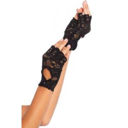 Black Lace Keyhole Back Fingerless Gloves Gothic Plus Gothic Clothing, Jewelry, Goth Shoes & Boots & Home Decor