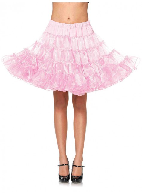 Baby Pink Knee Length Deluxe Crinoline Petticoat at Gothic Plus, Gothic Clothing, Jewelry, Goth Shoes & Boots & Home Decor