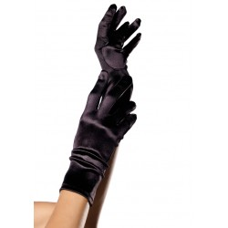 Black Wrist Length Satin Gloves Gothic Plus Gothic Clothing, Jewelry, Goth Shoes & Boots & Home Decor