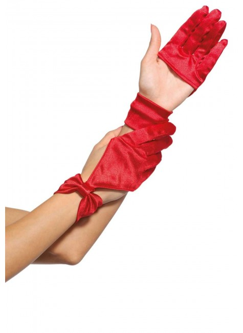 Satin Cut Out Gloves at Gothic Plus, Gothic Clothing, Jewelry, Goth Shoes & Boots & Home Decor