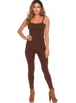 Basic Womens Unitard in Brown Gothic Plus Gothic Clothing, Jewelry, Goth Shoes & Boots & Home Decor