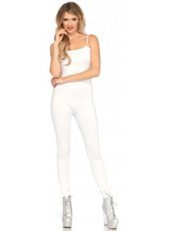 Basic Womens Unitard in White Gothic Plus Gothic Clothing, Jewelry, Goth Shoes & Boots & Home Decor
