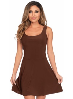Basic Brown Womens Skater Dress Gothic Plus Gothic Clothing, Jewelry, Goth Shoes & Boots & Home Decor