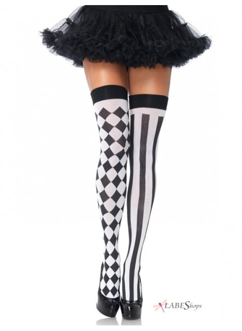 Harlequin Thigh Highs Pack of 3 at Gothic Plus, Gothic Clothing, Jewelry, Goth Shoes & Boots & Home Decor