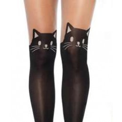 Adorable Black Kitty Cat Pantyhose 3 Pack Gothic Plus  Gothic Clothing, Jewelry, Goth Shoes, Boots & Home Decor