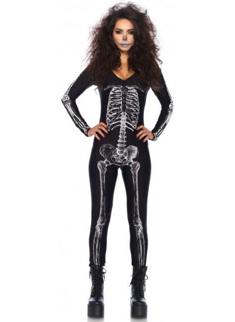 X-Ray Skeleton Print Catsuit at Gothic Plus, Gothic Clothing, Jewelry, Goth Shoes & Boots & Home Decor