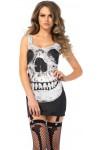 Skull Print Garter Dress