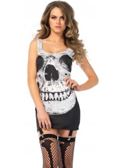 Skull Print Garter Dress Gothic Plus Gothic Clothing, Jewelry, Goth Shoes & Boots & Home Decor