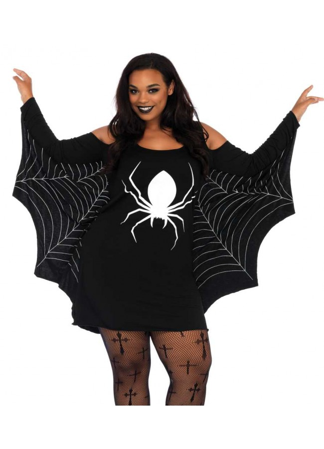 Spiderweb Plus Size Jersey Tunic Dress