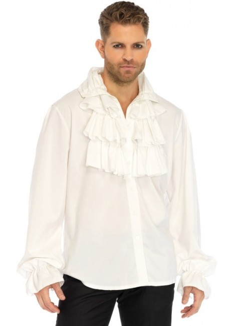 Ruffle Front Mens Shirt at Gothic Plus, Gothic Clothing, Jewelry, Goth Shoes & Boots & Home Decor