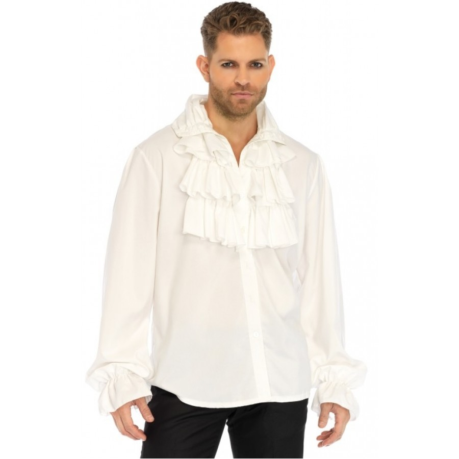 Ruffle front mens shirt gothic clothing pirate shirt for Frilly shirts for men