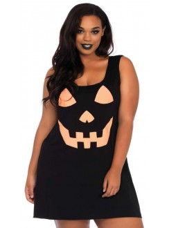 Pumpkin Plus Size Jersey Dress Gothic Plus Gothic Clothing, Jewelry, Goth Shoes & Boots & Home Decor