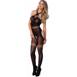 Twisted Strap Opaque Black Bodystocking Gothic Plus Gothic Clothing, Jewelry, Goth Shoes & Boots & Home Decor
