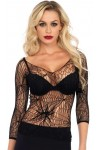 Black Widow Spider Web Net Top