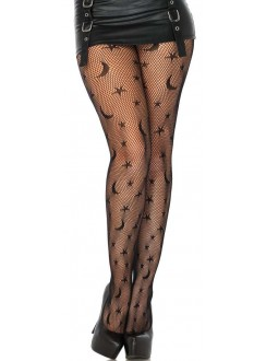 Celestial Net Black Tights Gothic Plus Gothic Clothing, Jewelry, Goth Shoes & Boots & Home Decor