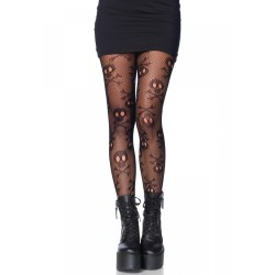 Pirate Skull and Crossbones Pantyhose Gothic Plus  Gothic Clothing, Jewelry, Goth Shoes, Boots & Home Decor