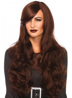 Extra Long Brown Wavy Wig Gothic Plus Gothic Clothing, Jewelry, Goth Shoes & Boots & Home Decor