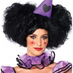 Black Bob Wig with Detachable Side Puffs Gothic Plus Gothic Clothing, Jewelry, Goth Shoes & Boots & Home Decor