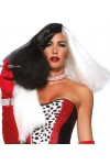 Black and White Cruella Costume Wig