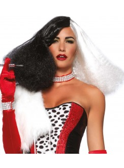 Black and White Cruella Costume Wig Gothic Plus Gothic Clothing, Jewelry, Goth Shoes & Boots & Home Decor