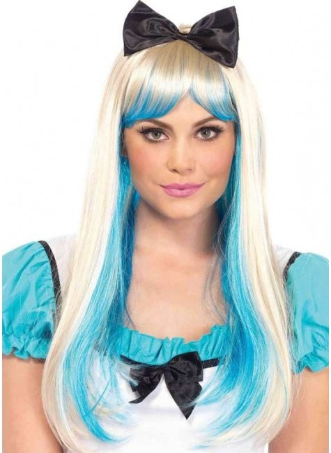 Alice Costume Wig with Bow at Gothic Plus, Gothic Clothing, Jewelry, Goth Shoes & Boots & Home Decor