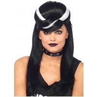 Frankie Bouffant Long Black Gothic Wig