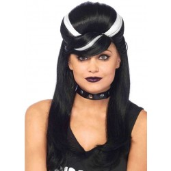 Frankie Bouffant Long Black Gothic Costume Wig Gothic Plus Gothic Clothing, Jewelry, Goth Shoes & Boots & Home Decor