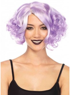 Lavender Curly Bob Short Wig Gothic Plus Gothic Clothing, Jewelry, Goth Shoes & Boots & Home Decor